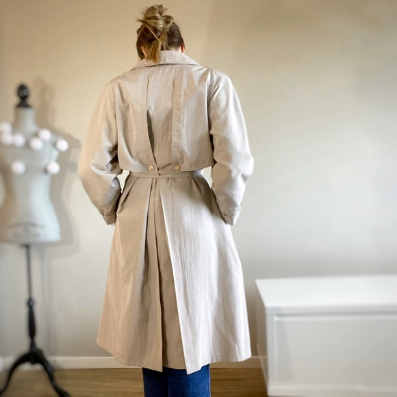 Vintage cream trench coat.